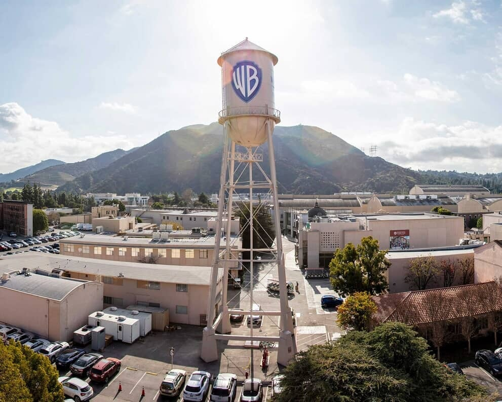 Warner Bros Water Tower - Aerial Shot - Promo